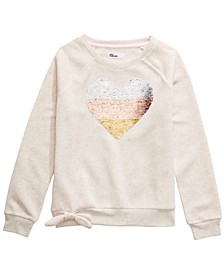 Big Girls Sequined Heart Sweatshirt, Created For Macy's