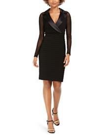 Adrianna Papell Plus Size Tuxedo Dress & Reviews - Dresses ...