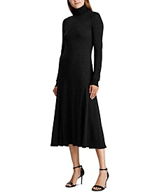 Petite Shimmer Turtleneck Dress