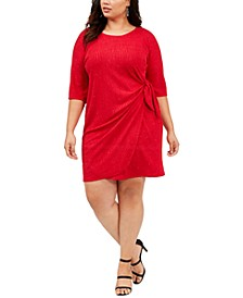 Plus Size Glitter Knit Sarong Dress