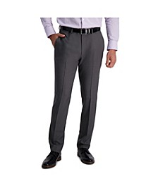 Stretch Stria Slim Fit Flat Front Suit Separate Pant