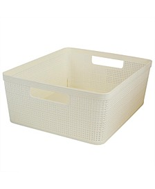 HDS Trading Trellis Large Storage Basket with Cut-Out Handles