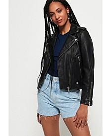 Rylee Leather Biker Jacket