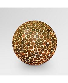 Bengal Teak Ball Floor Lamp - Small