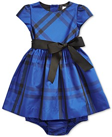 Baby Girls Plaid Taffeta Dress & Bloomer