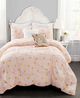 Queen Chic Home 10-Piece Fiesta Bed-in-A-Bag Comforter Set Black