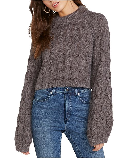 Volcom Knits Up Cable-Knit Cropped Sweater