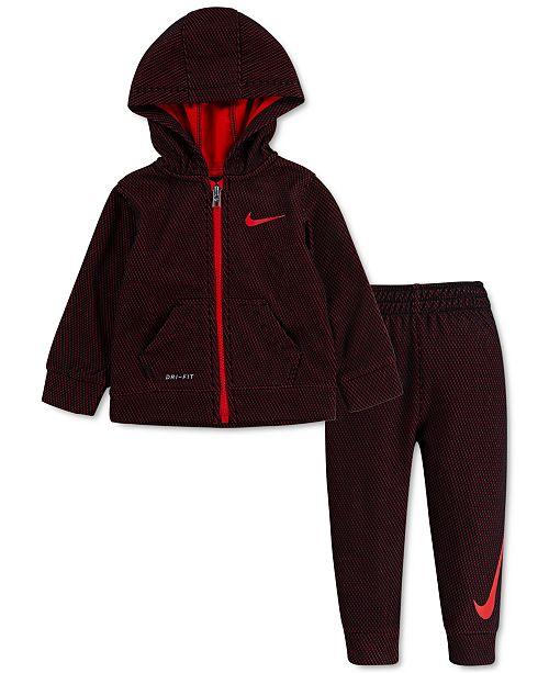 Nike Baby Boys 2-Pc. Mesh-Fleece Zip-Up Hoodie & Jogger Pants Set