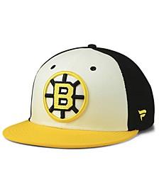 Boston Bruins Tri-Colour Throwback Snapback Cap