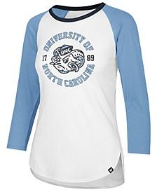 Women's North Carolina Tar Heels Script Splitter Raglan T-Shirt