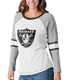 Women's Oakland Raiders Long Sleeve Top Pick T-Shirt