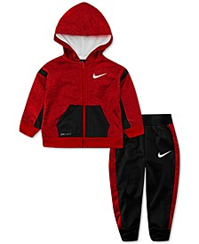 Baby Boys 2-Pc. Speckled Therma Fleece Zip Hoodie & Pants Set