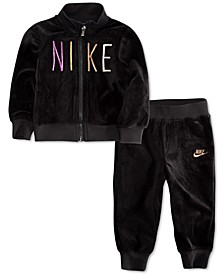 Baby Girls 2-Pc. Shine Velour Track Jacket & Pants Set