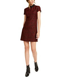 Collared Tweed Shift Dress, Created For Macy's