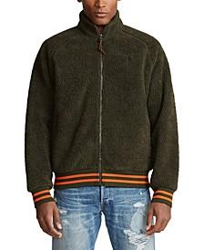 Men's Vintage Sherpa Zip-Front Knit Sweatshirt