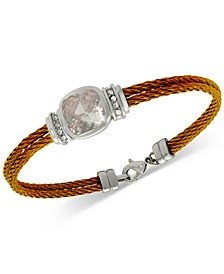 Cubic Zirconia Cable Bracelet