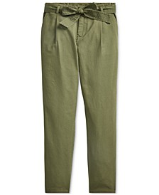 Big Girls Belted Cotton Chino Pants