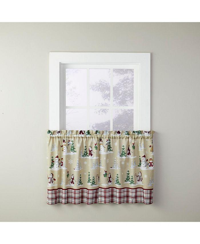 "Saturday Knight - Joyful Snowmen 36"" Window Tier Set"