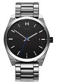 Men's Ion Silver Element Stainless Steel Bracelet Watch 43mm