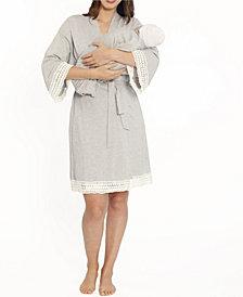 Blooming Women 3 Piece Robe, Nursing Dress and Baby Wrap Set