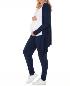 Blooming Women By Angel Blooming Women Maternity Cardigan Nursing Top & Pant 3pc Set