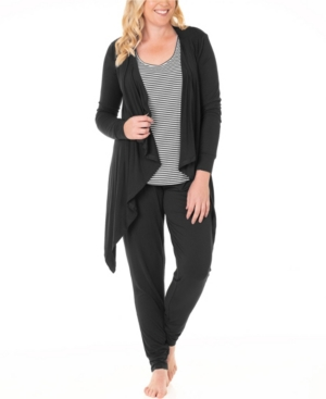 Blooming Women By Angel Waterfall Cardigan, Tank and Pants 3pc Maternity Set