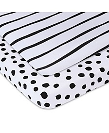 Bambini Jersey Cotton Pack n Play Sheets, 2 Pack