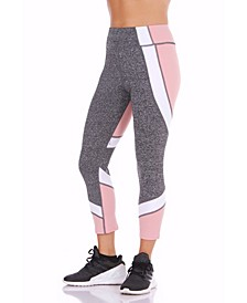 Seven-Eighth Length Color blocked Leggings