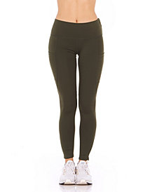 Therapy Women's Perforated Side Pockets High-Rise Leggings