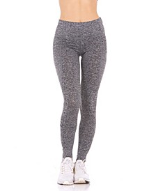 Women's Perforated Side Pockets High-Rise Leggings