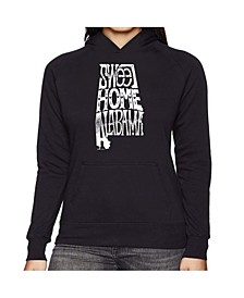 Women's Word Art Hooded Sweatshirt -Sweet Home Alabama