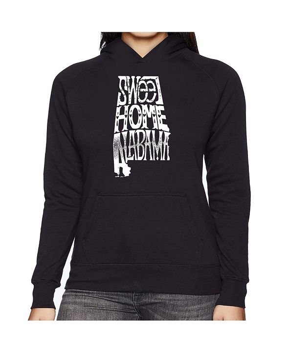 LA Pop Art Women's Word Art Hooded Sweatshirt -Sweet Home Alabama