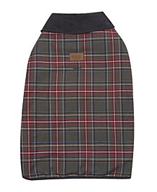 Grey Stewart Plaid Dog Coat, X-Large