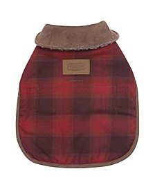 Red Ombre Plaid Dog Coat, X-Small