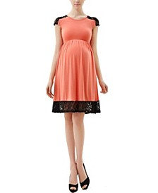 Kate Maternity Lace Insert Skater Dress