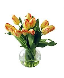 Permanent Botanicals Tulip in Bubble Bowl