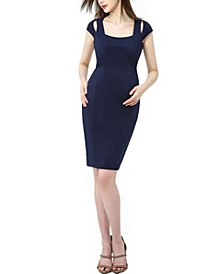 Julie Maternity Cold Shoulder Body-Con Dress