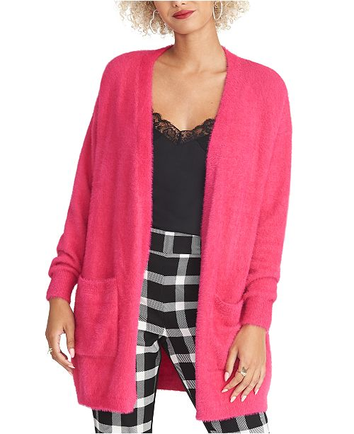 RACHEL Rachel Roy Fuzzy Cardigan Sweater