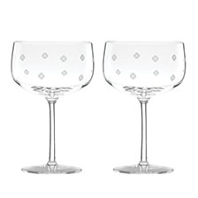 Spade Clover Champagne Coup Glass, Set of 2