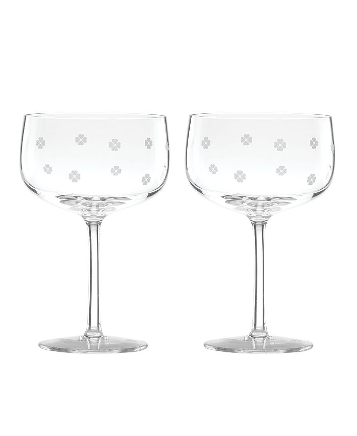 kate spade new york - Spade Clover Champagne Coup Glass S/2