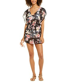 Tie-Waist Chiffon Swimsuit Cover-Up