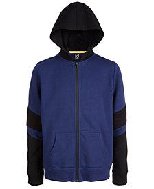 Ideology Big Boys Colorblocked Zip-Up Hoodie, Created For Macy's