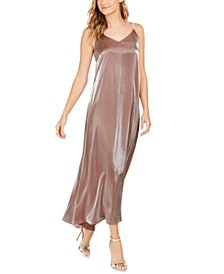 Embellished Metallic Gown
