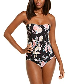 First Date Printed Tankini Top & Hipster Bottoms