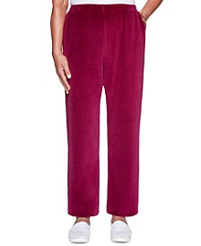 Petite Bright Idea Velour Pants