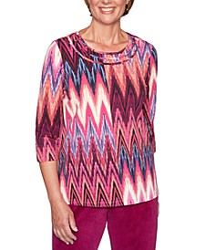 Petite Bright Idea Braided Neck Top
