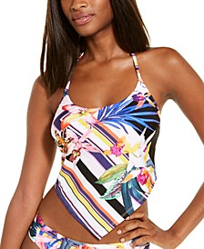 Treasure Cove Printed Scarf Halter Tankini Top