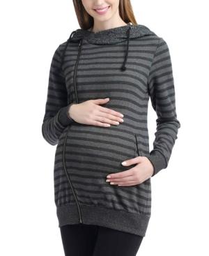 Kimi + Kai Salena Stripe Maternity Hoodie