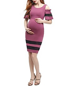 Marissa Maternity Cold Shoulder Sheath Dress