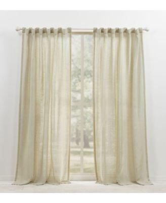Engel Solid Tab/Rod Pocket Curtain Panel, 54